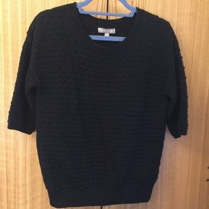 Banana Republic Black Half-Length Sleeve Sweater